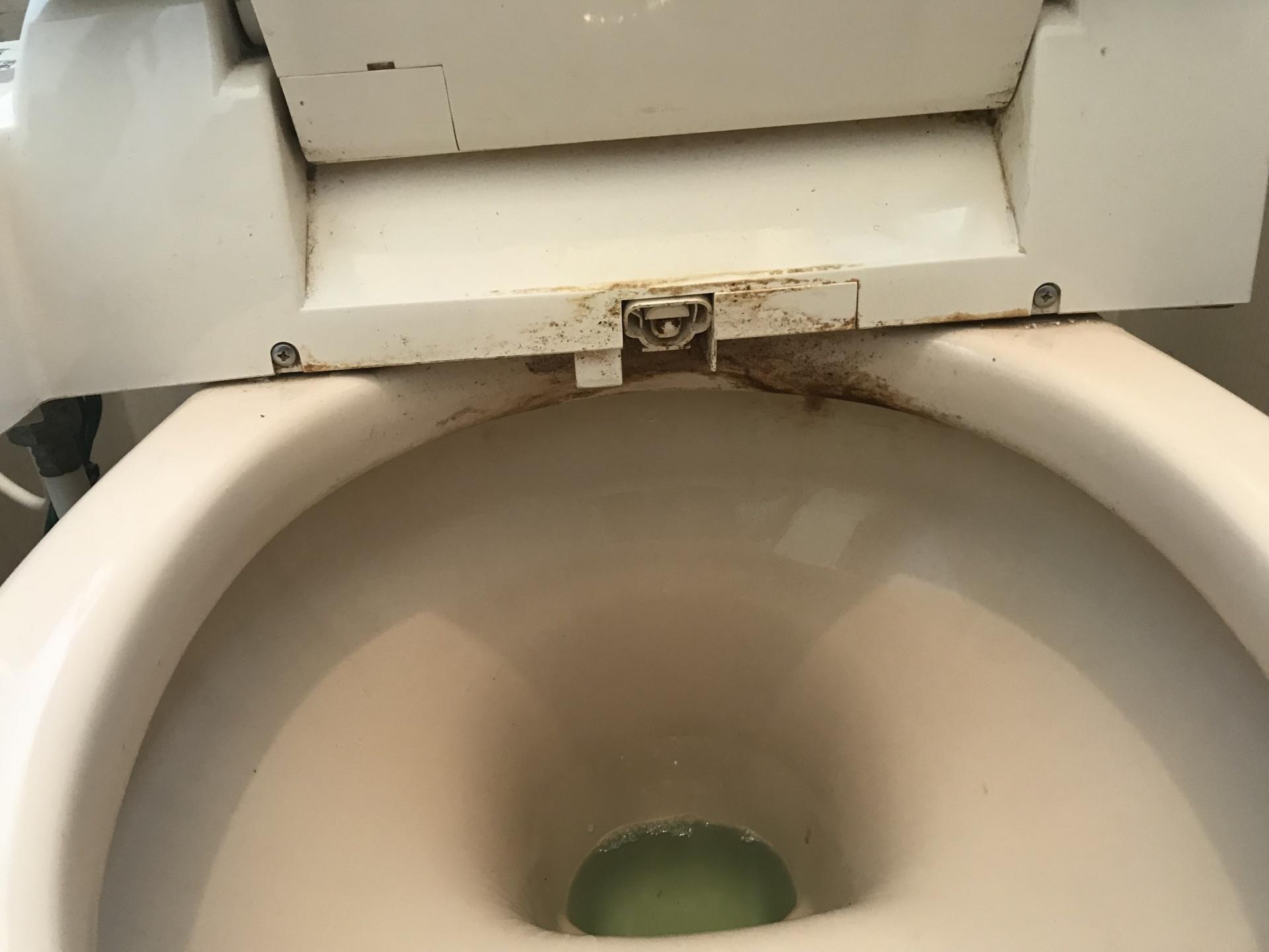 なかなか掃除し辛い場所に汚れがついていますね