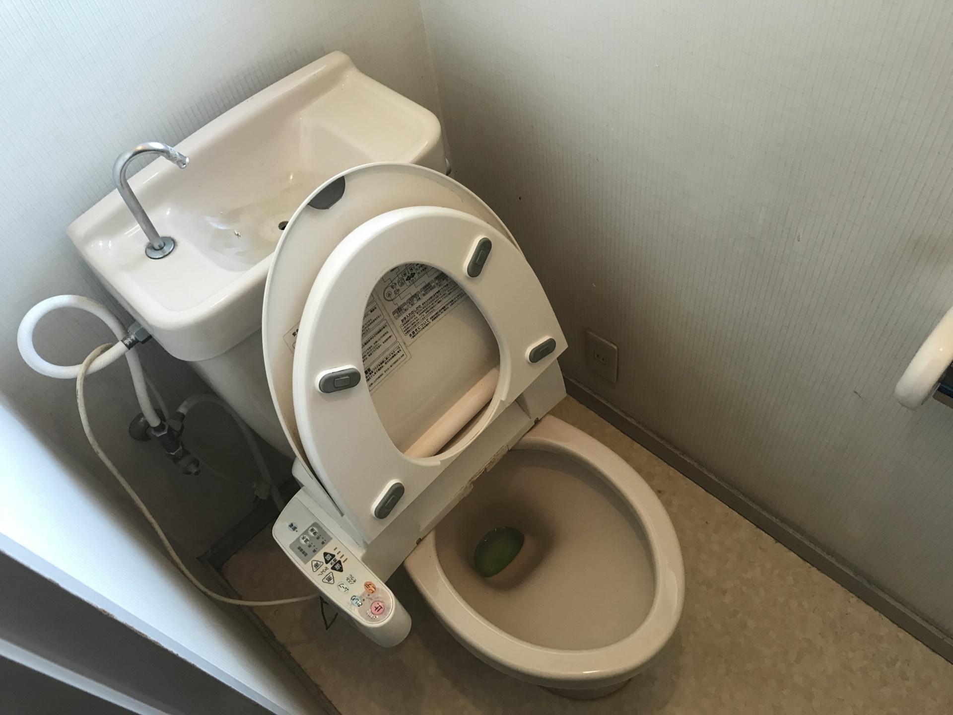 清掃前のトイレの全体図です