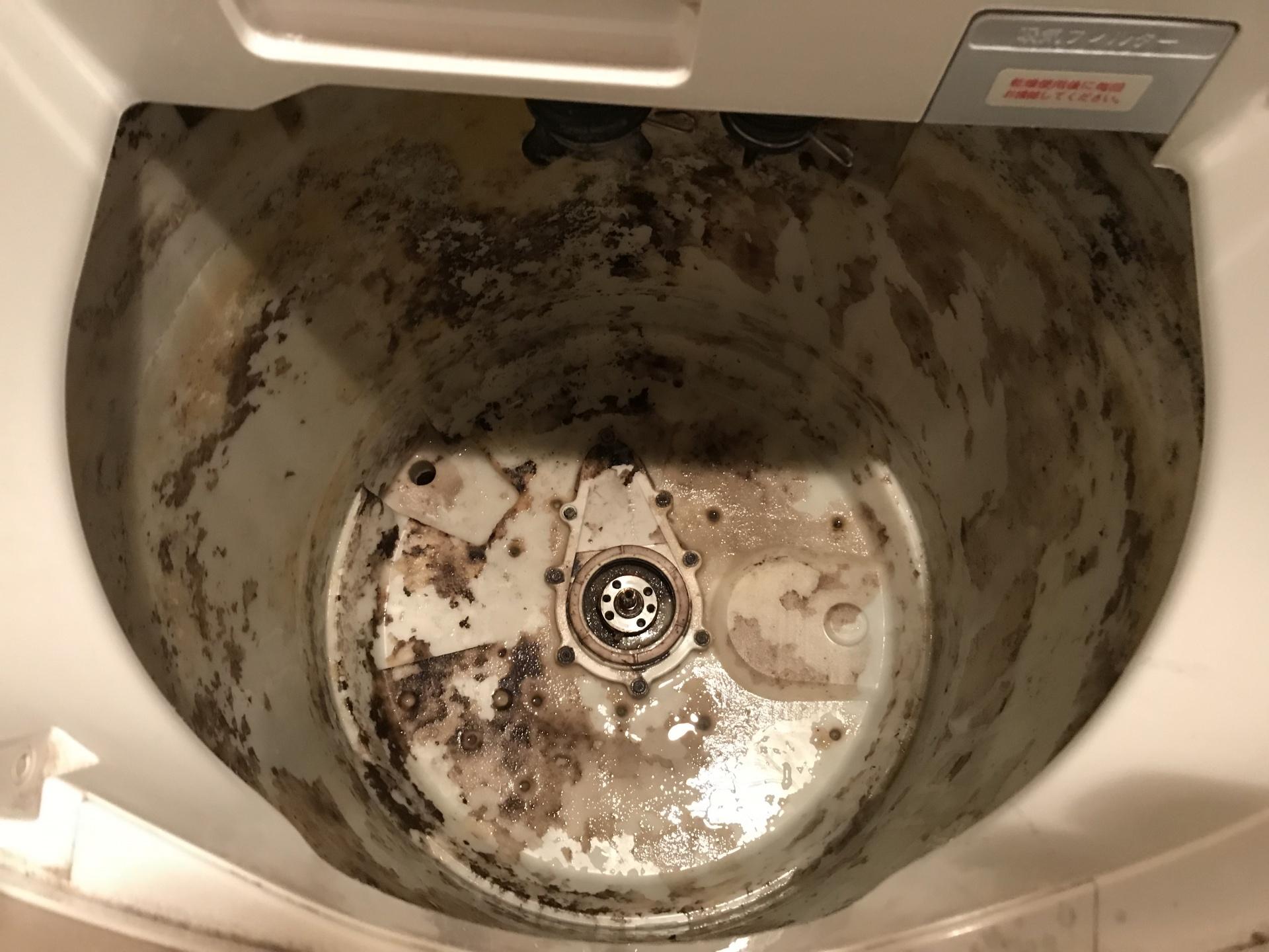 外槽も汚れていますね